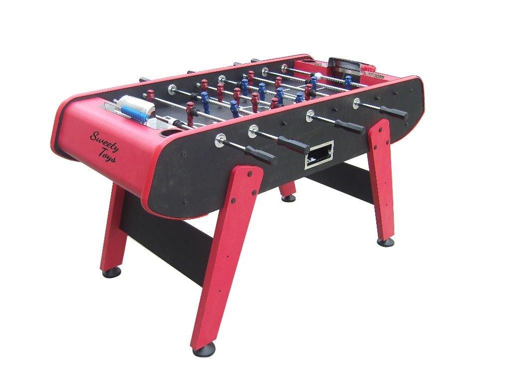 Sweety Toys 6700Tisch Kicker Tisch Fussball rot/schwarz