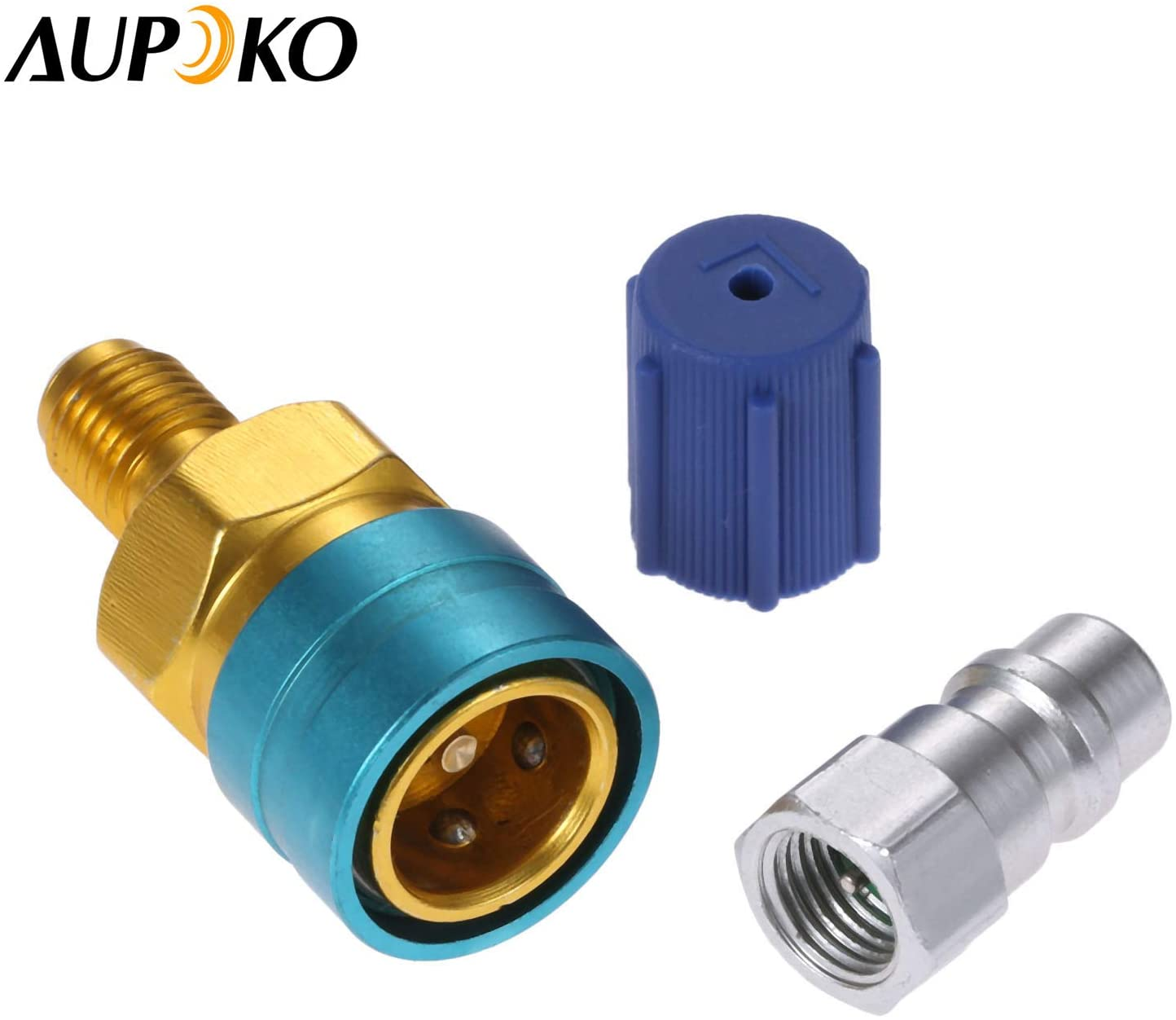 R12 to R134A Hose Adapter Fitting Connector for Car Air-Conditioning AC Charging R1234YF to R134A Low Side Quick Coupler
