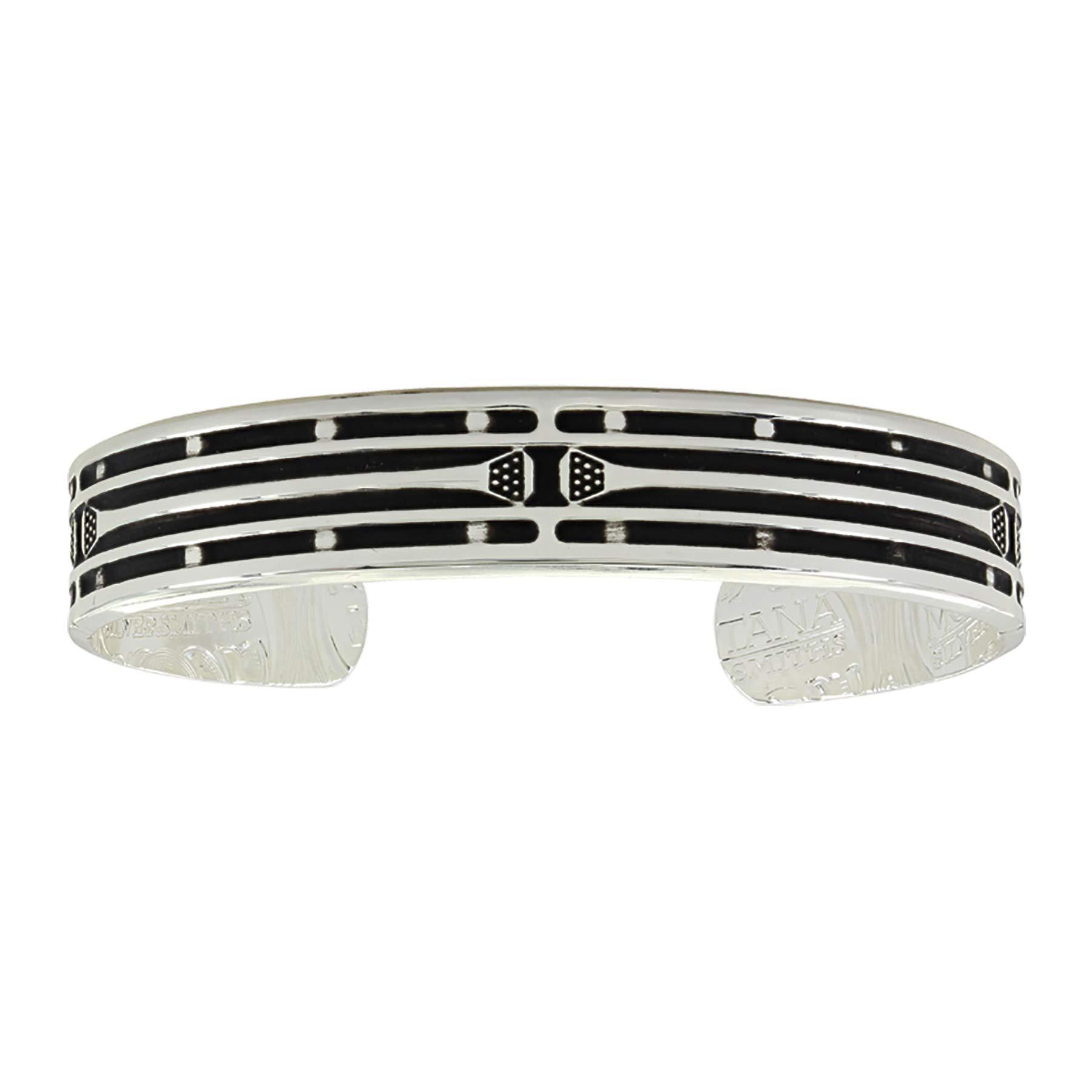 Montana Silversmiths Mirrored Horseshoe Nail Cuff Bracelet