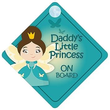 Amazon.com: dlp015 Daddy s Little Princess On Board señal ...