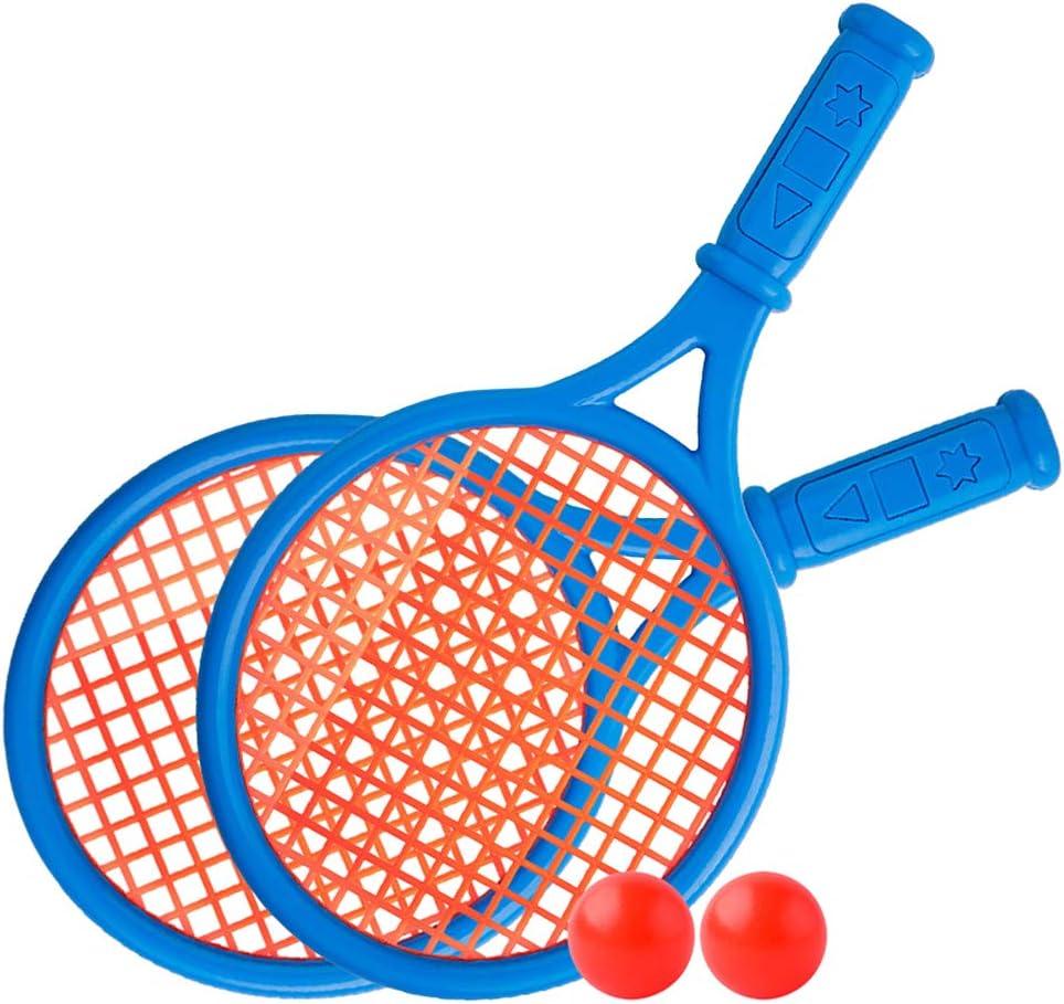 WooDlan Kids Tennis Racquet Set Children Funny Tennis with Balls for Home Garden Beach Outdoor School Training Sport