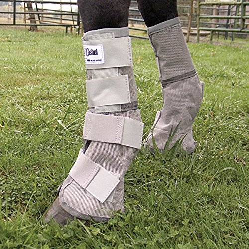 Cashel Crusader Horse Fly Protection Leg Guards, Set of four, Grey, (Leg Guard Set)