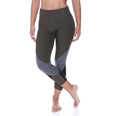 N.Y.L. Women's Spliced Color Hidden Pocket Workout Yoga Leggings
