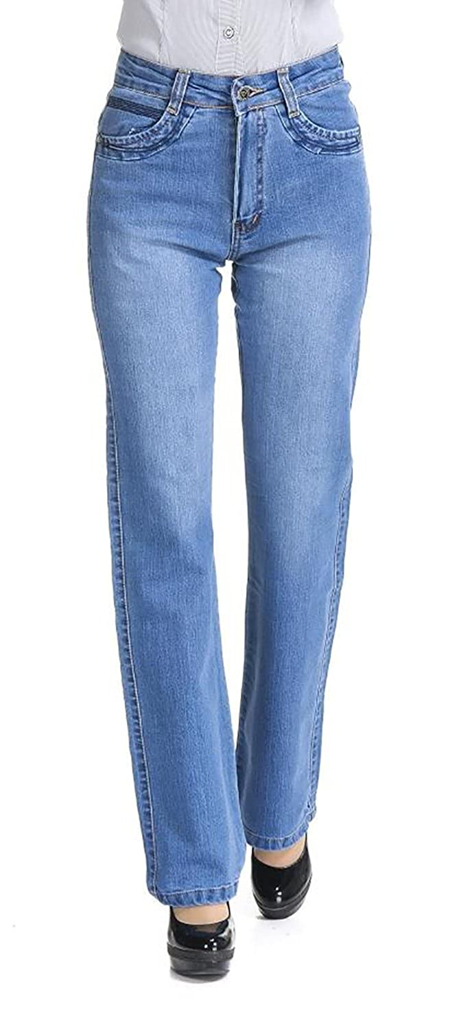 3b99cb1cff8e8 GARMOY Women s High-Rise Straight Fit Fade Wide Leg Jeans at Amazon Women s  Jeans store