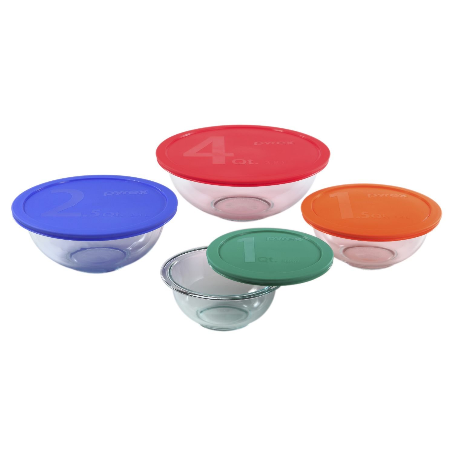 Pyrex 8-Piece Smart Essentials Glass Bowl Set