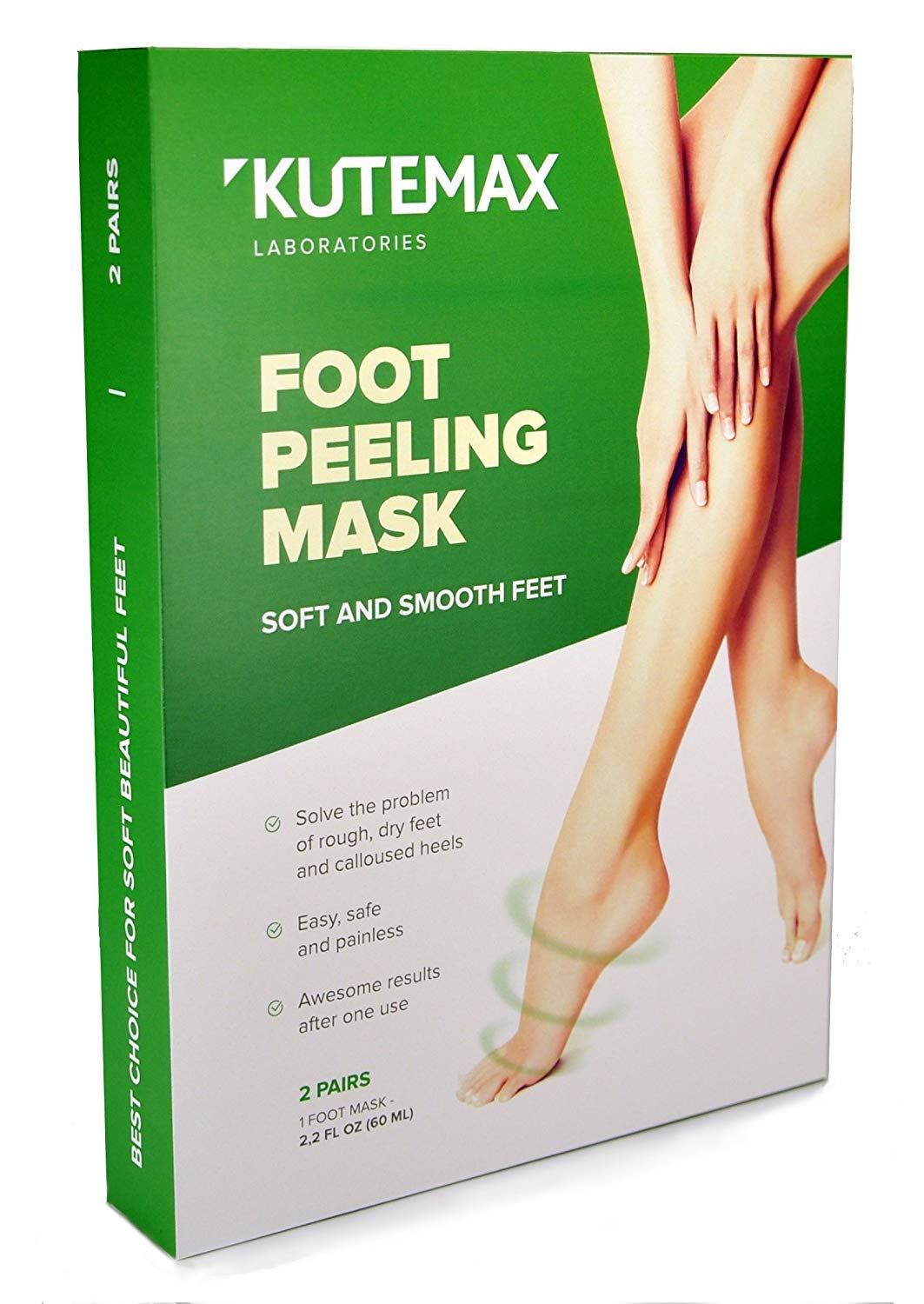 2 Pairs Foot Peel Mask Exfoliant for Soft Feet, Exfoliating Booties for Peeling Off Calluses & Dead Skin, For Men & Women