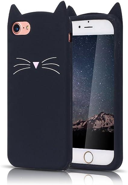 Moevn Cover iPhone 8 Plus, Custodia iPhone 7 Plus, 3D Carino Fumetto Gatto Morbida TPU Silicone Sottile Flessibile Opaco Gel Antiurto Protezione Case ...