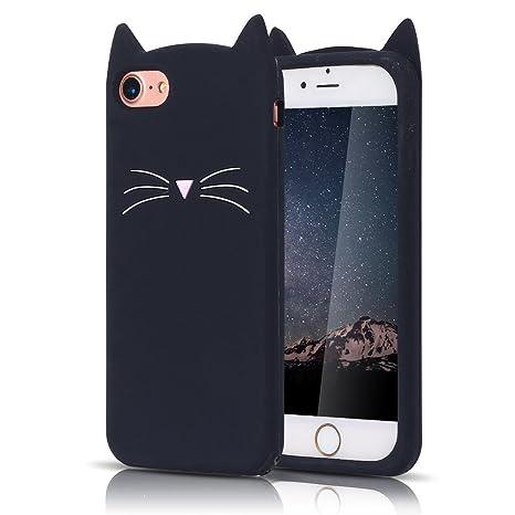 Funda iPhone 8 Plus, MoEvn Protectora Caso Silicona TPU Suave Silicone Case Cover Ultra Delgado