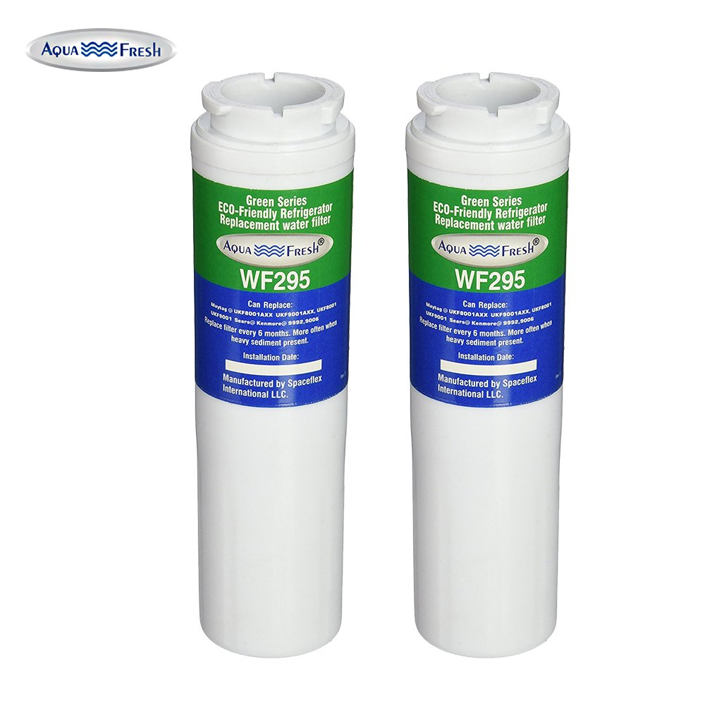 Aqua Fresh WF295 Replacement Refrigerator Water Filter for Maytag UKF8001,Whirlpool 4396395, EDR4RXD1,Puriclean II,9006 (2 Pack)