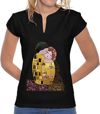 latostadora Camiseta Camiseta Cuello Mao Kokeshi El Beso ...