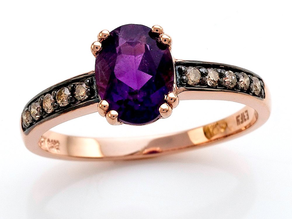 Effy Collection 14k Rose Gold Amethyst Ring Size 7.5 by Effy Jewelry (Image #1)