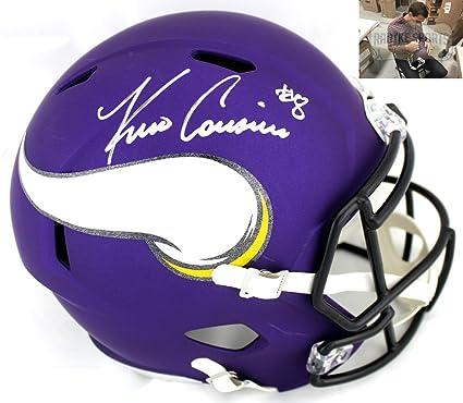 0f03a3a5db7815 Kirk Cousins Autographed/Signed Minnesota Vikings NFL Full Size Speed Helmet
