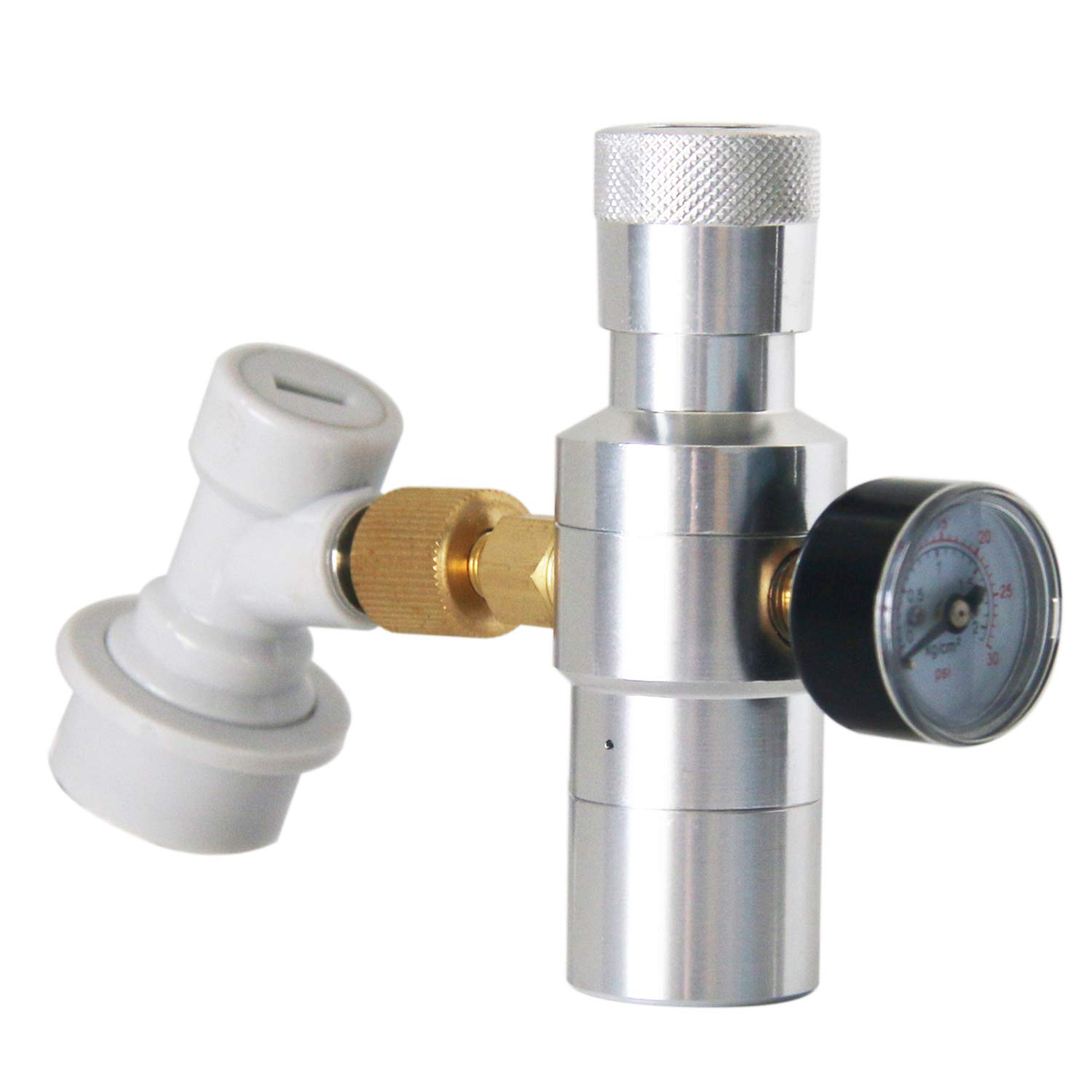 Ball Lock Gas Disconnect for Home Draft Beer Bottle Brewing Brand PERA Includes Keg Regulator 0-30 PSI CO2 Keg Charger CO2 Regulator 3//8 Thread Adapter