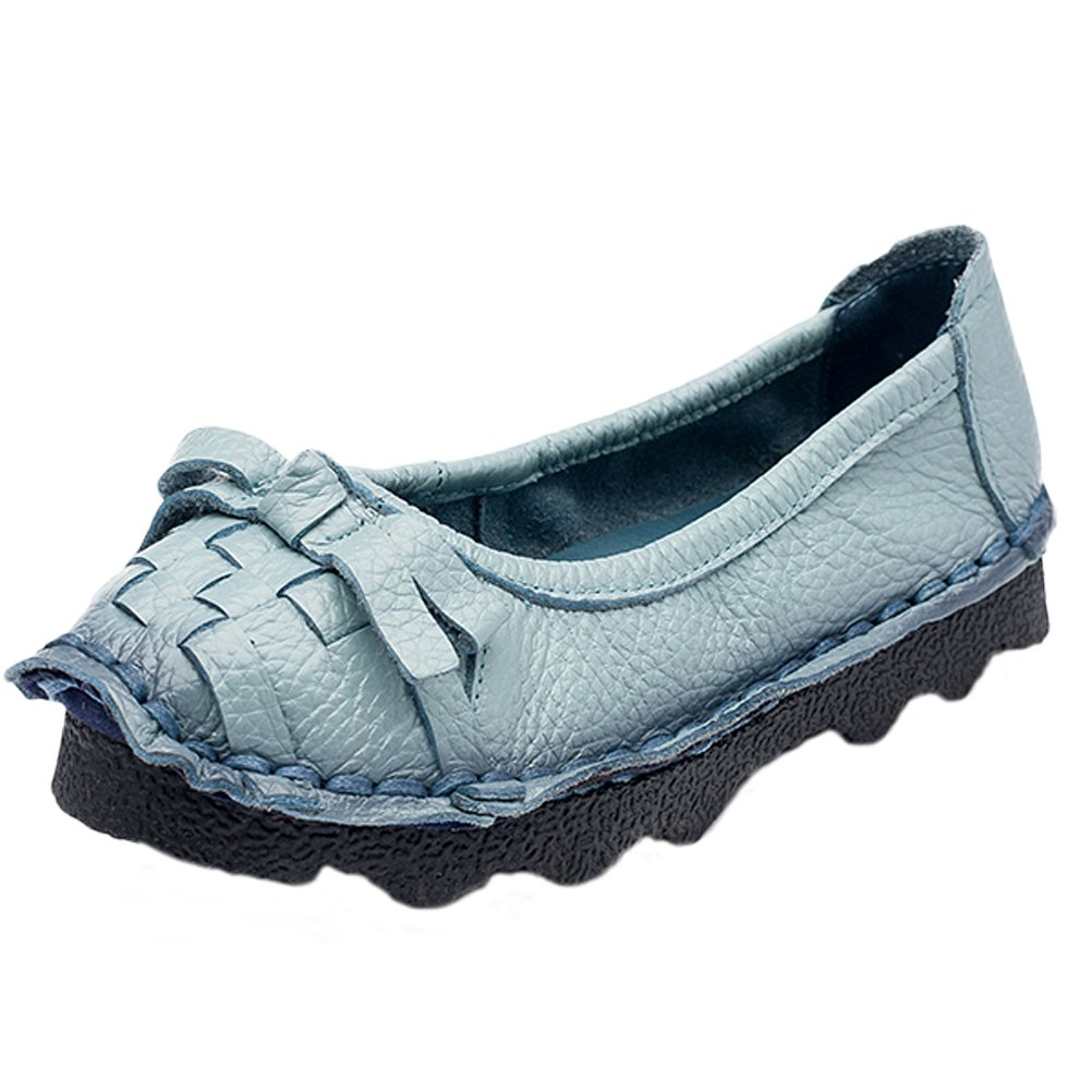 Mordenmiss Women's Trend Candy Bowknot Ballet Flat Ribbon Slip On Style 2 39 Blue