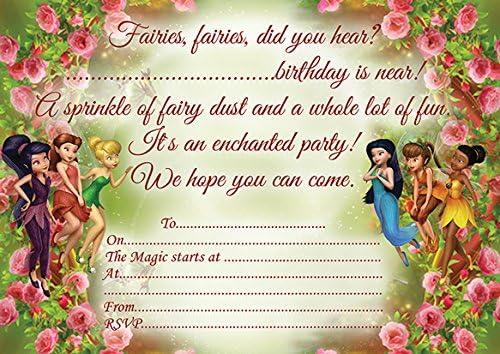 10 x hadas niños fiesta de cumpleaños invitaciones ...