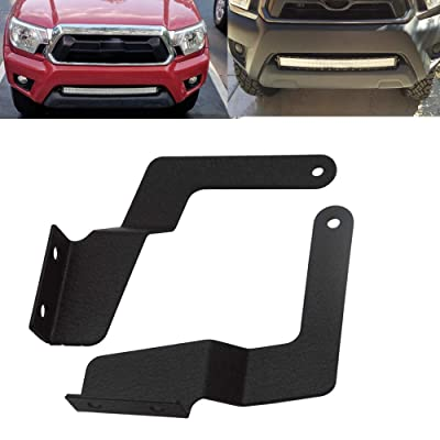 XJMOTO Front Lower Hidden Bumper Grille Mount Brackets for 30 inch LED Light Bar Fit 2005-2015 Toyota Tacoma Pick Up 2WD 4WD: Automotive