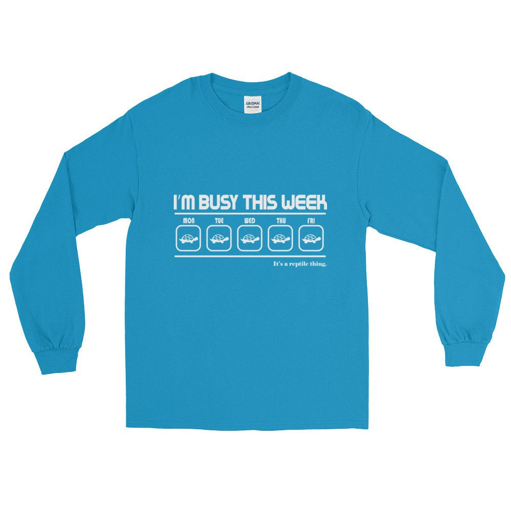 im busy this week Reptile Long Sleeve T-Shirt