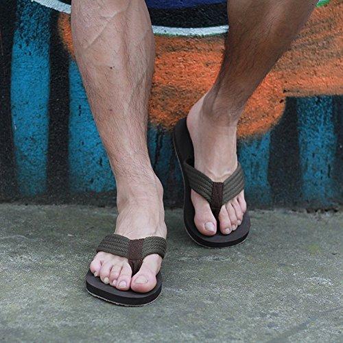Confortevoli Sandali Indossano Tempo Il Le Estate Libero Dita Per Piedi Tendenza Ciabatte 44 Studenti Maschi Piano Pantofole Casa Dei marrone Rqw8IxRZX