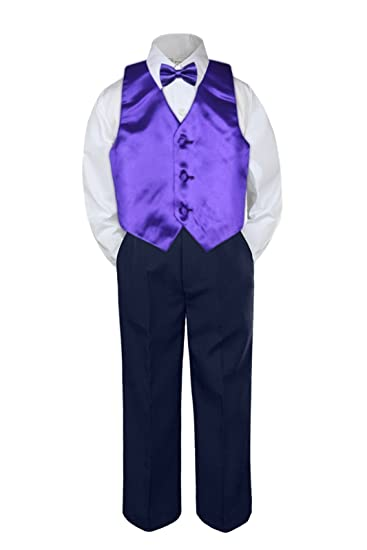 28 Baby Boys Toddler /& Big Kids LILAC VEST BOW TIE Set Suits /& Tuxedo Sz S