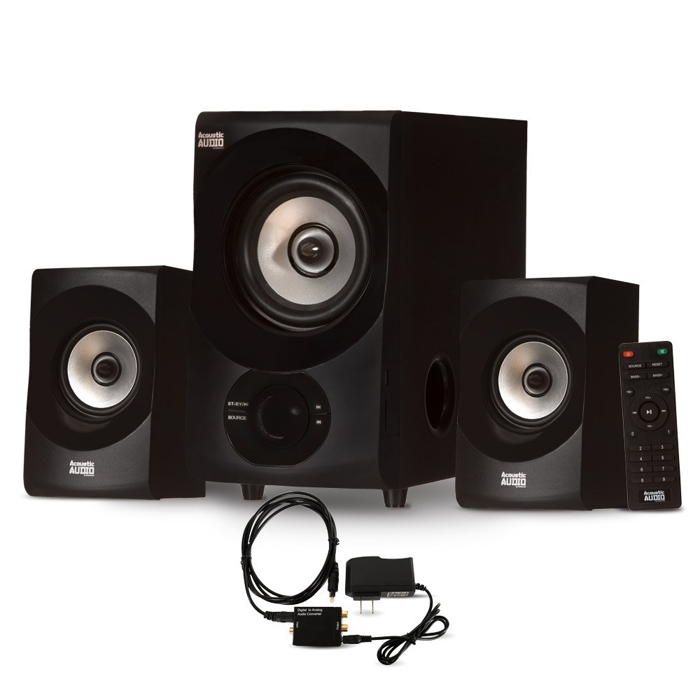 Acoustic Audio AA2171 Bluetooth 2.1 Home Speaker System with Digital Optical Input Multimedia