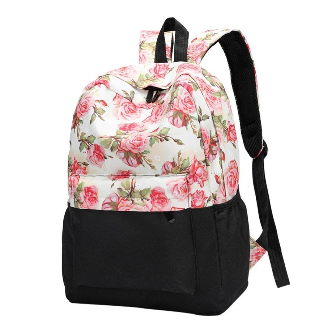 レディースバックパックフローラル印刷Bookbagsメス旅行バックパック  Style_C B07G4FK752
