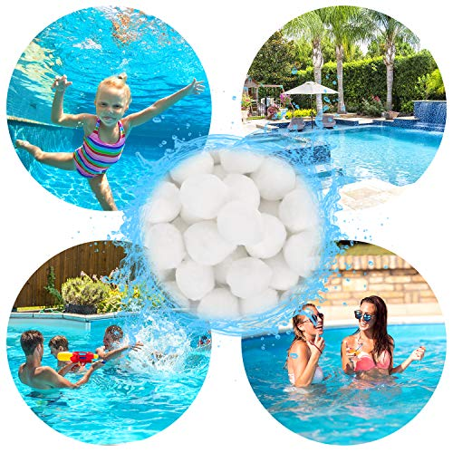 Tolaccea Filter Balls 700g ersetzen 25 kg Filtersand, Filterbälle für Pool Sandfilter, Besser für Schwimmbad, Filterpumpe and Aquarium
