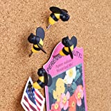Design Ideas BusyBee Pushpins, Set of 6 Bumblebee