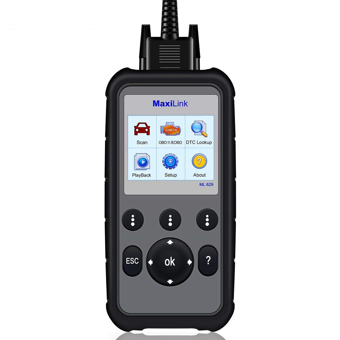 Autel MaxiLink ML629 CAN OBD2 Scanner Code Reader +ABS/SRS/Engine/Transmission Diagnostic Scan Tool, Turns Off Engine Light (MIL) and ABS/SRS Warning Lights, Upgraded Version of ML619 Scan Tool by Autel (Image #1)