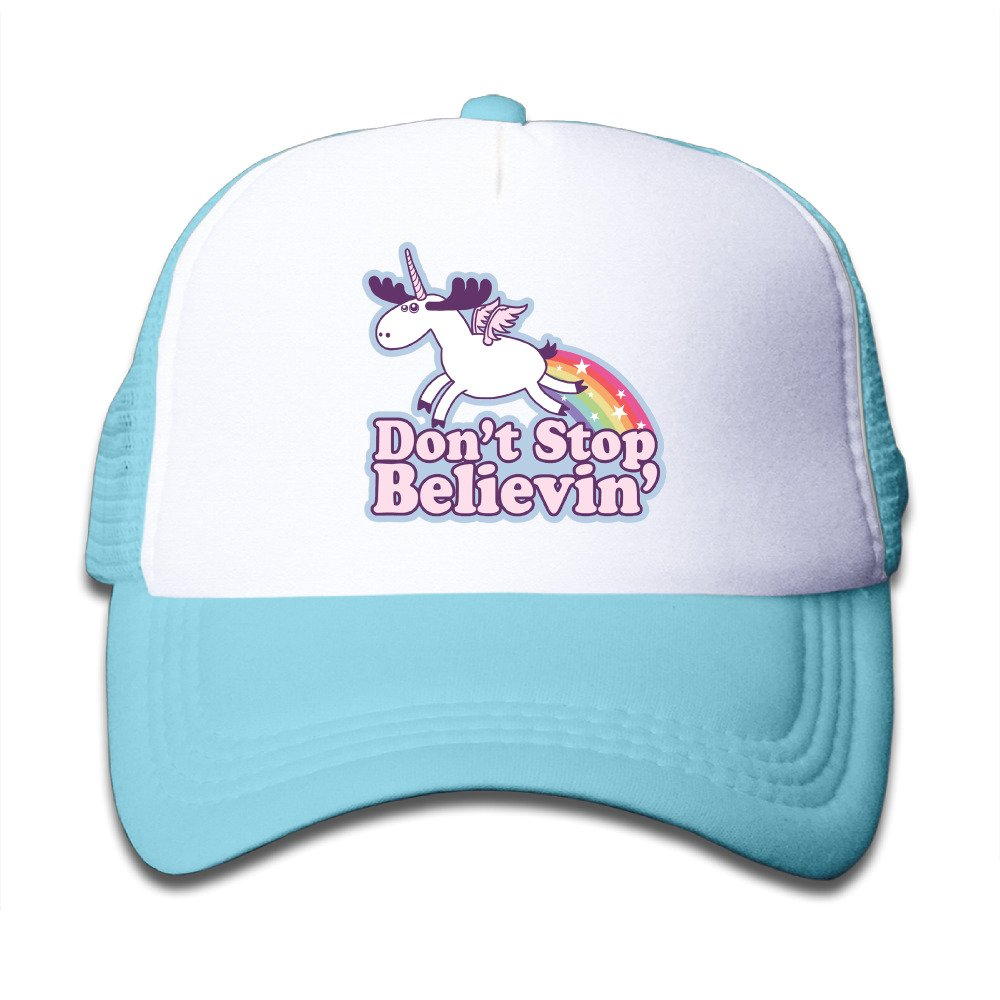 Gsyful Youth KidsD Dont Stop Believin Unicorn Baseball Cap Hat Snapback Black