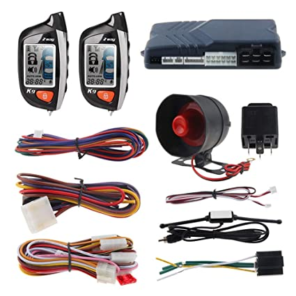 EASYGUARD 2 Way Car Alarm System EC200-K9 with LCD Pager Display Remote Engine Start Turbo Timer Mode Shock Alarm DC12V Long Remote Range