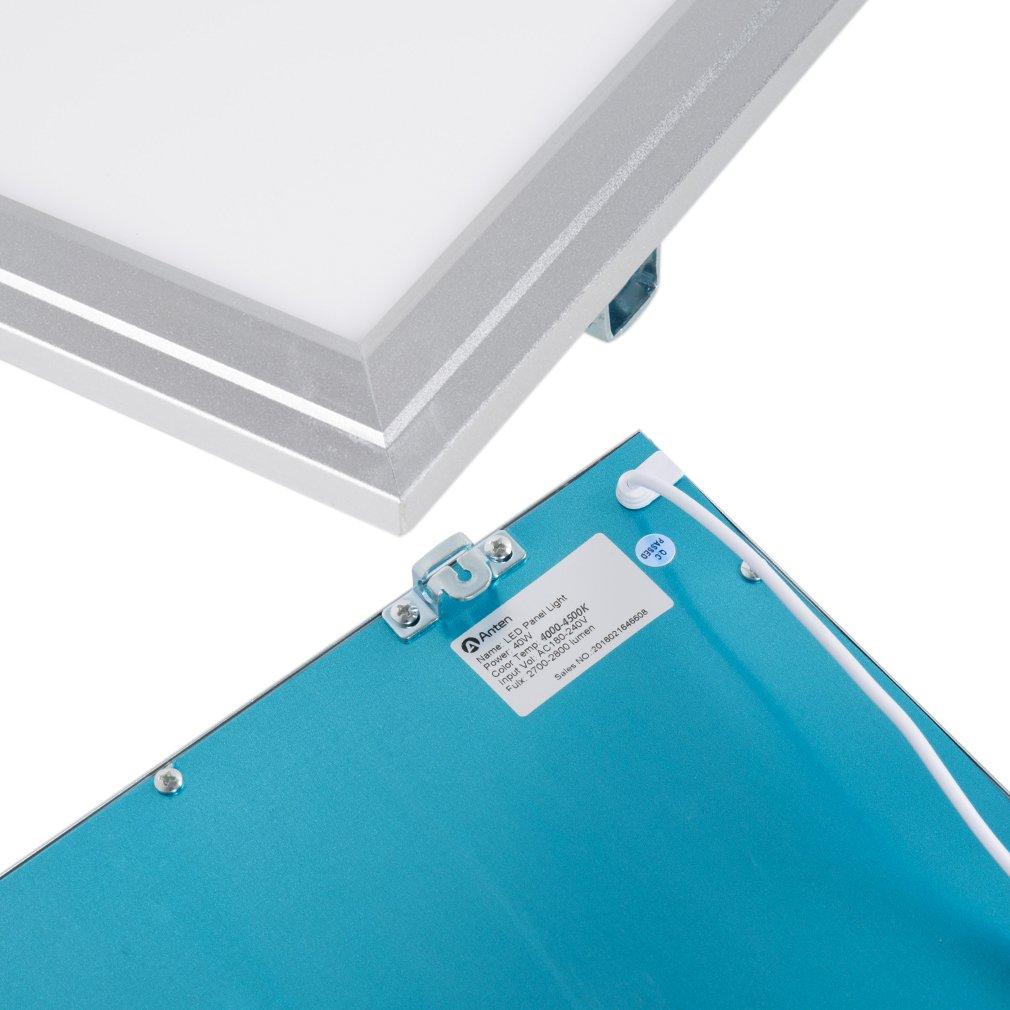4000K Panneau Led Blanc Naturel pour Maison//Bureau//Commercial Plafonnier LED Ultraslim, Carr/é Lot de 2 Anten 40W Dalle LED de Plafond 60x60cm