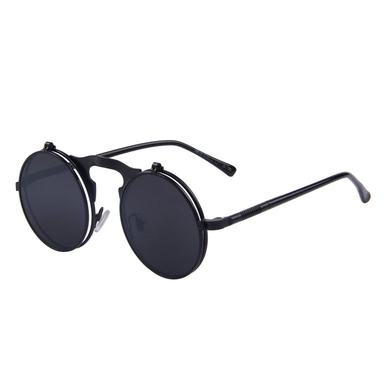 Amazon.com: Sunglasses punk Gothic vintage clamshell Gafas ...