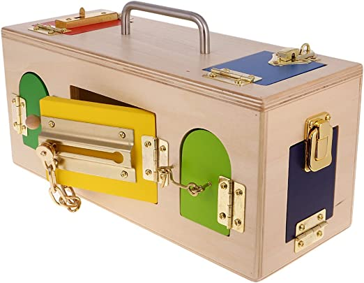 Fenteer Montessori Matemático Hardware de Madera - Cajas Pequeñas ...