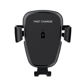 AURSEN Cargador Inalámbrico Coche, Qi 10W Carga Rápida Cargador de Coche Soporte para Samsung Galaxy Note 8/ S9/ S9+/ S8/ S8+/ S7/ S6 Edge+/ Note 5, ...