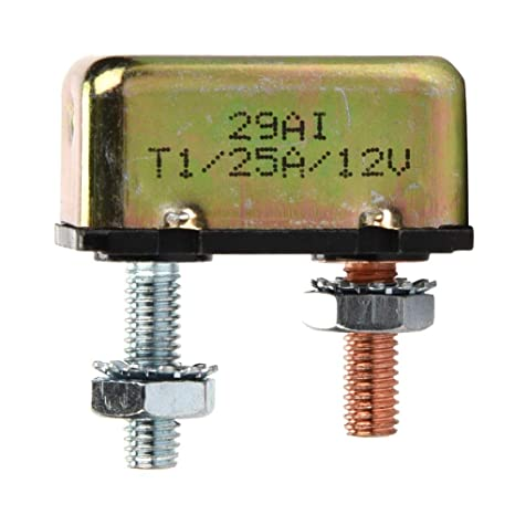 10A Automatic Auto Reset Low Profile Circuit Breakers with Cover 10A 15A 20A 25A 30A 40A 50A for Motorcycle Car Truck Marine