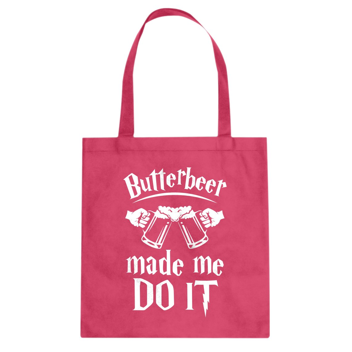 Indica Plateau Butterbeer Made Me Do It Cotton Canvas Tote Bag