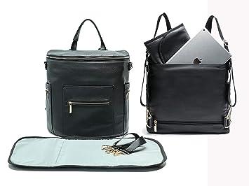 ecc4beeb0b Amazon.com   Leather Diaper Bag Backpack by Miss Fong