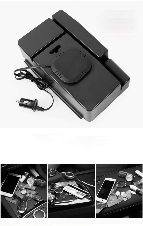 DeHasion QI Wireless Charger Phone Holder Car Armrest Storage Box Car Center Console Organizer Suitable for 2018 Maserati Ghibli Glove Armrest Storage Box Wireless Charging for iPhone X