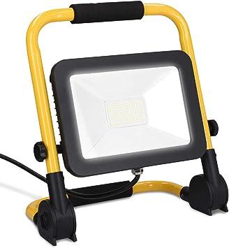 kwmobile Proyector LED para construcción de 50W 5000 lúmenes ...