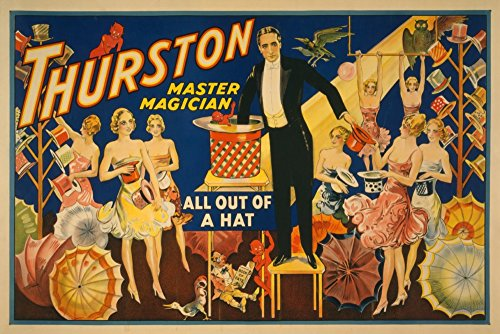 Thurston, Master Magician Out of a Hat Magic - Vintage Theater Advertisement (12x18 Art Print, Wall Decor Travel ()