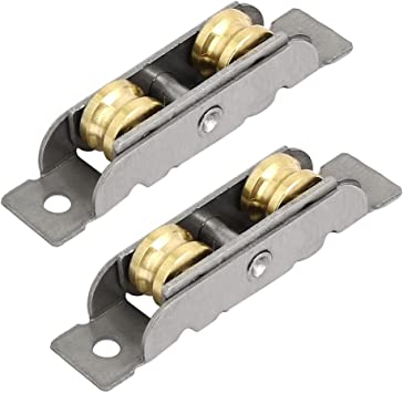 sourcingmap 12mmx8mm Barraillos dobles correderas 2pcs puerta de ...