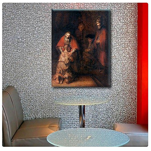 (Alonline Art - Prodigal Son by Rembrandt | print on high quality fine art photo paper poster (Rolled) | 12