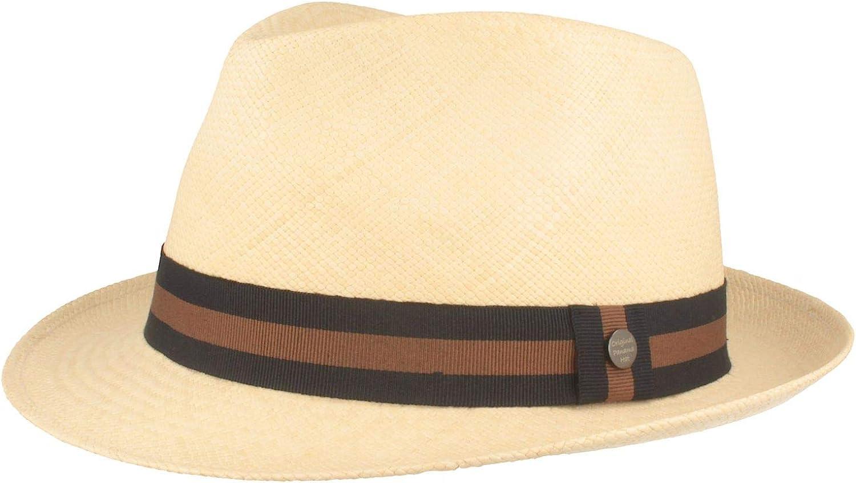 Original Sombrero Panamá | Sombrero de Paja Hecho a Mano en Ecuador | Sombrero de Verano - 100% Paja - Refuerzo de Silicona contra deformaciones.
