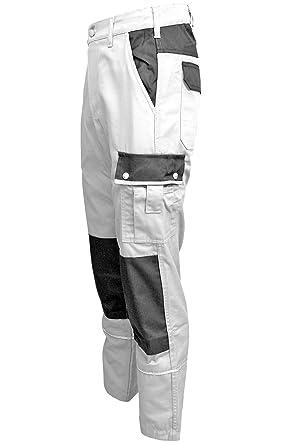 aa400c83e93f TMG Malerhose Arbeitshose Bundhose Übergröße Canvas 320g m² weiß Gr. 46-80 (