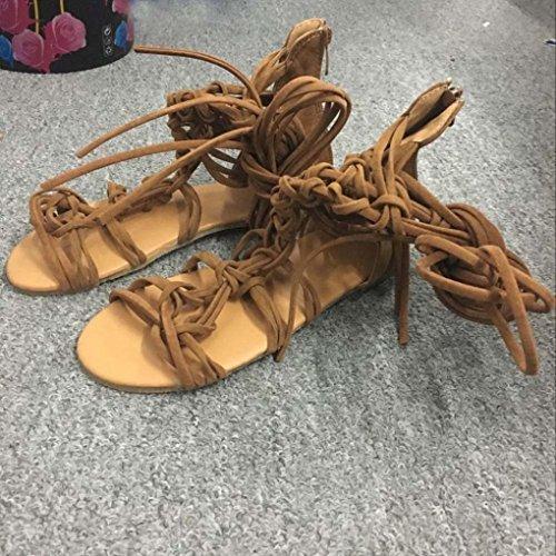 Con Zapatos Marrón Mujer Tacón Igemy HFXw7q0A