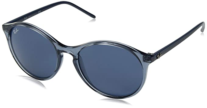 Ray-Ban 0RB4371, Gafas de Sol para Mujer, Transparente Blue, 54