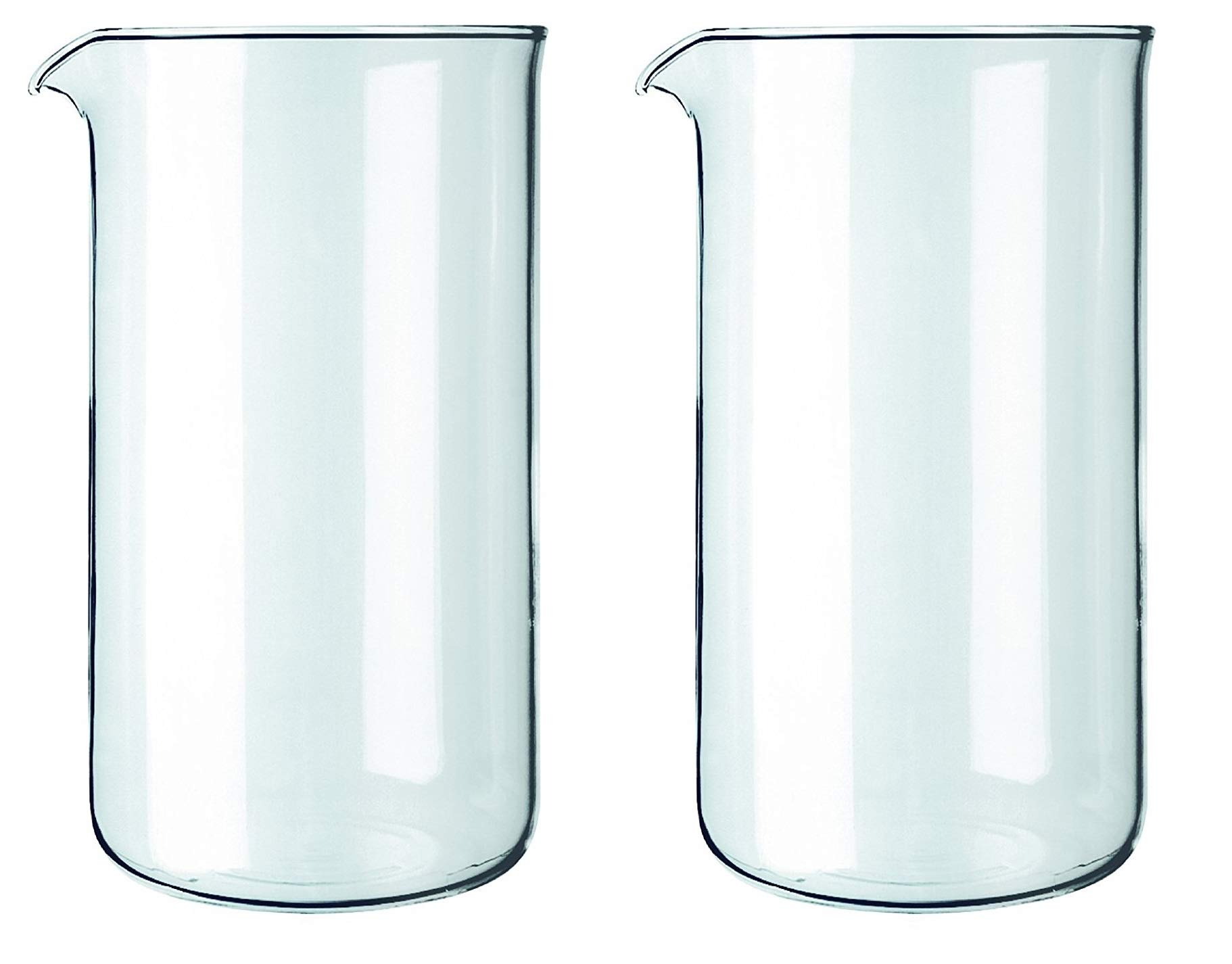 Bodum Spare Glass Carafe for French Press Coffee Maker, 8-Cup, 1.0-Liter, 34-Ounce, Set of 2 by Bodum
