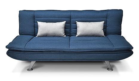 Divano letto in tessuto blu marino divanetto posti mod iris