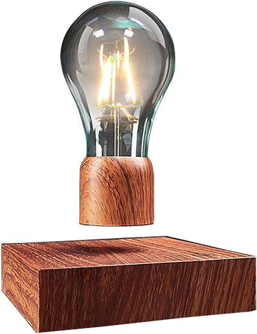 VGAzer Lampe de bureau magnétique à lévitation sans fil Ampoule LED Cadeaux uniques, décoration de chambre, lumière de nuit, décoration de bureau à la