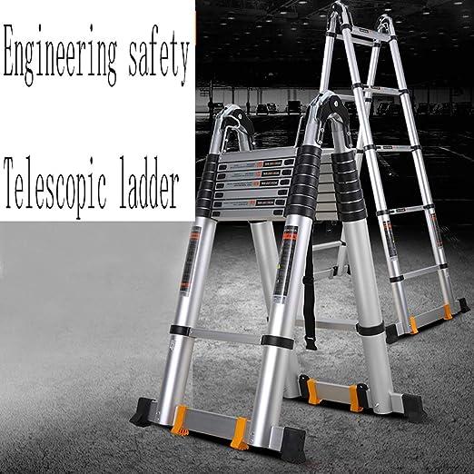 MC-BLL-ladder Escalera Plegable Escalera multifunción portátil Escalera telescópica de Aluminio Grueso Escalera de Trabajo: Amazon.es: Hogar